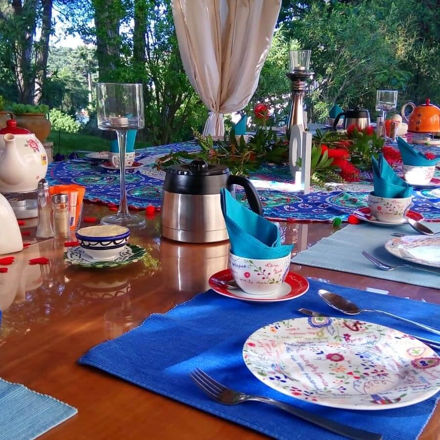 Frühstückstisch vom Buffet im Ferienhaus Vila del Sol
