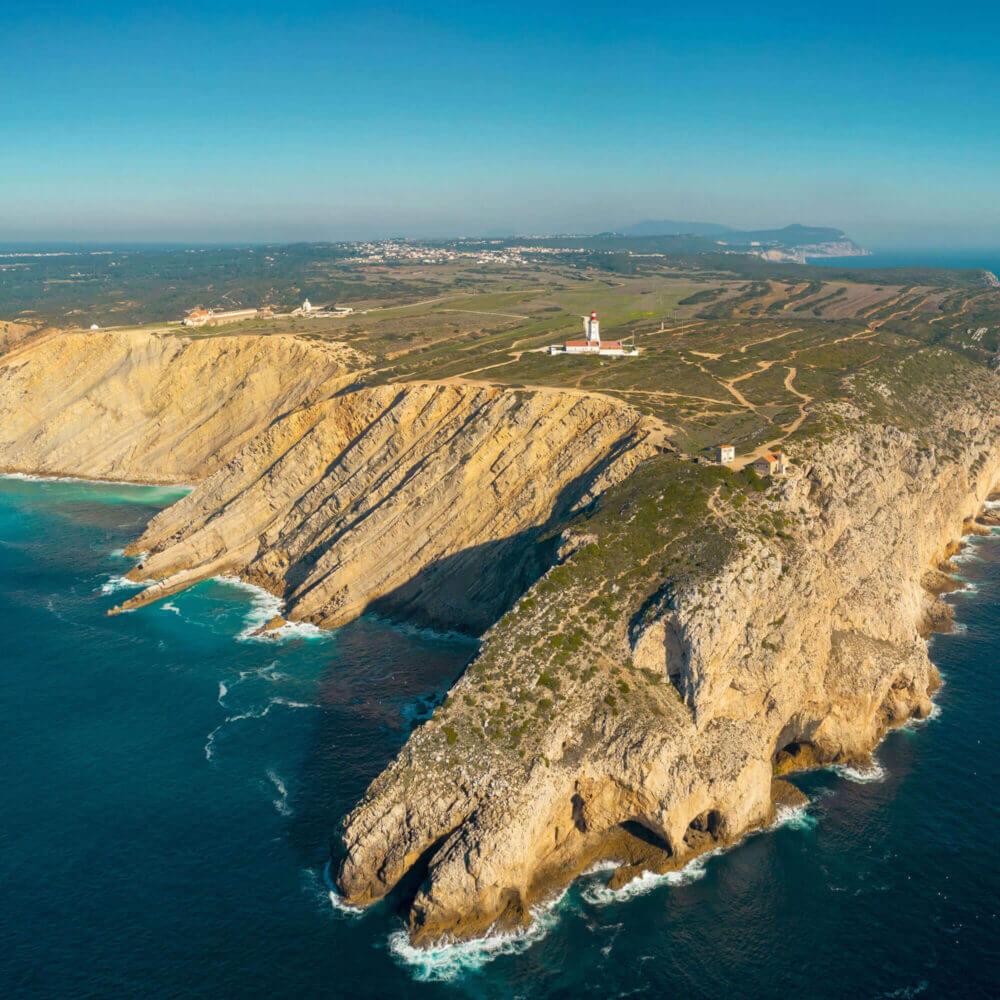 Luftaufnahme vom Cabo Espichel